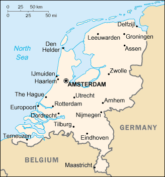 Towns and cities in the Netherlands